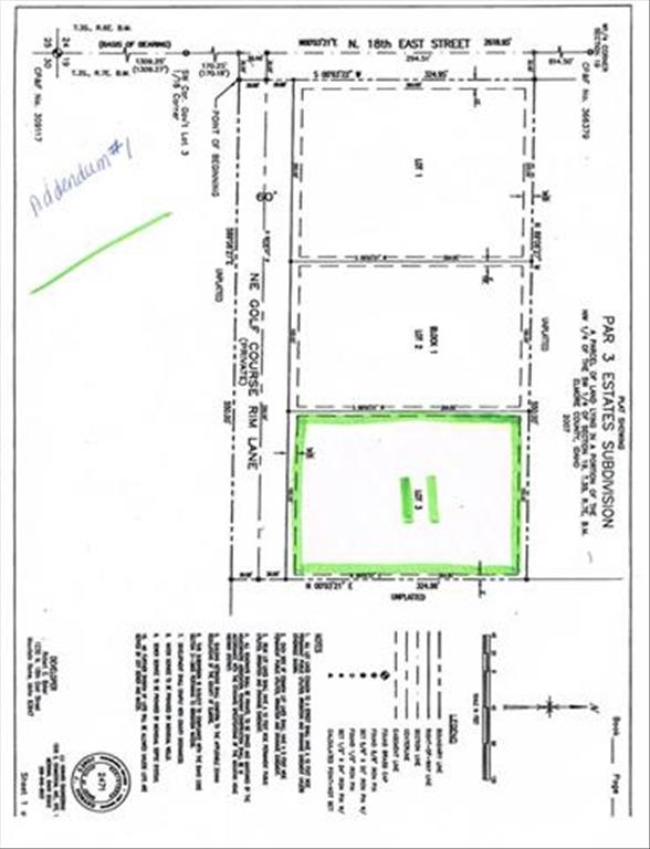 Photo of Lot 3 Blk 1 Par  Golf Course Rim Lane   Mountain Home   ID